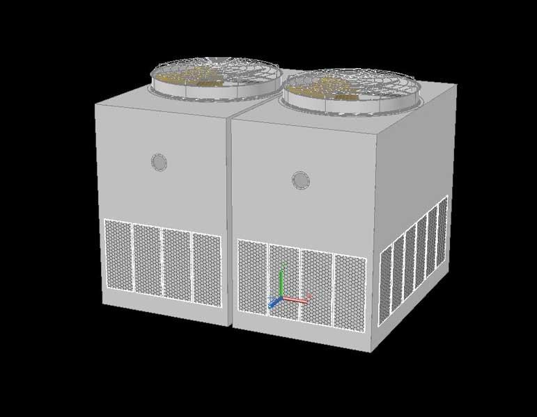 دانلود فایل CAD 3D برج خنک کننده ساختمانی بزرگ به همراه عکس های رندر شده