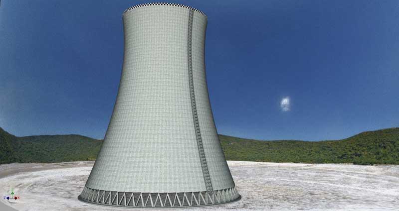 فایل 3D CAD برج خنک کننده صنعتی  رندر شده